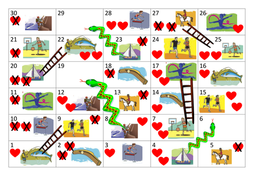 Free time snakes and ladders game