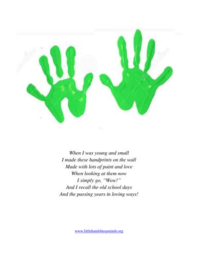 First Day Of School Handprint Craft