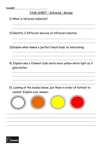 GCSE AQA Physics - P2.2-3 - Infrared Radiation & Black body radiation (2 lessons)