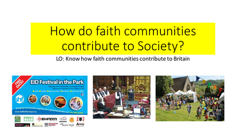 AQA SPEC B Unit 1 Faith communities and Festivals Religion and Multicultural Society