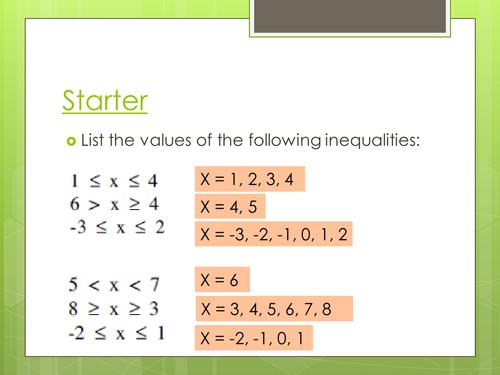 Shading inequalities