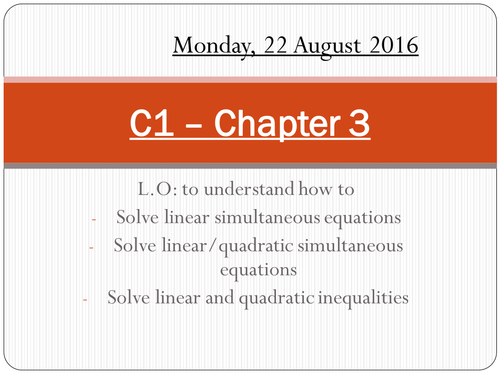 Core 1 - Chapter 3