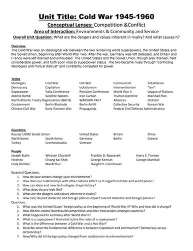 Quiz & Worksheet - Beginning of the Cold War | Study.com