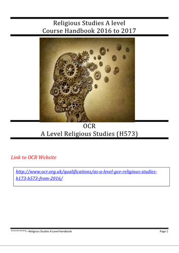 OCR -New Religious Studies A Level (Course Booklet)