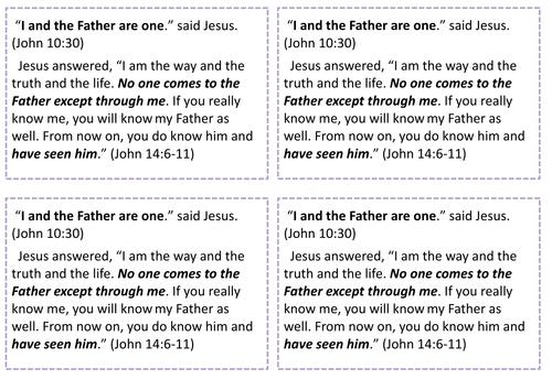 Eduqas: The Nature of God; The Holy Trinity 2.