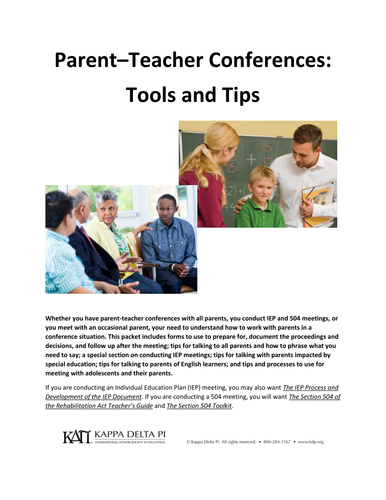 Parent-Teacher Conferences Tools and Tips
