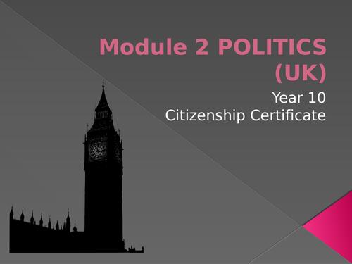 Democracy in the UK WORKBOOK Politics Voting Parliament Government