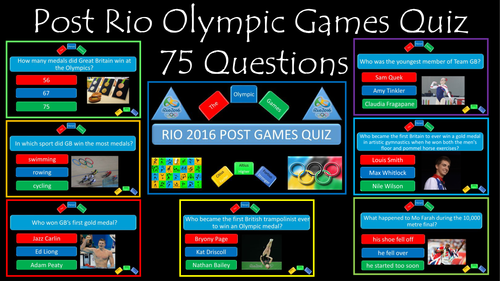 Post Olympic Games and Rio 2016 Quiz
