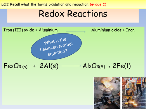 OCR A Level Chemistry A New Spec (from Sept 2015) - Redox lesson and assessment