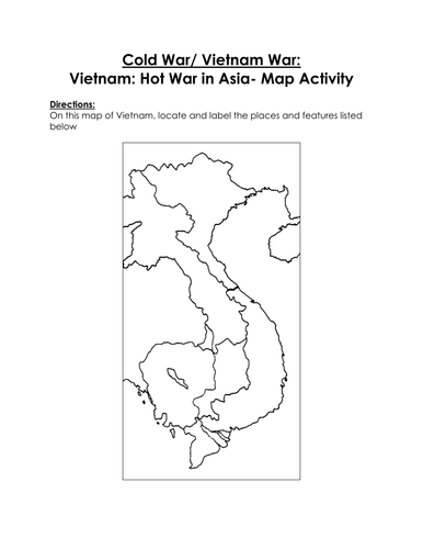 Cold War Map Of Asia.Cold War Vietnam War Vietnam Hot War In Asia Map Activity By