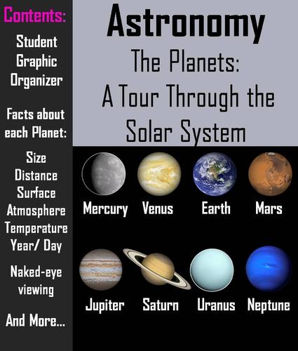 solar system graphic organizer - photo #46