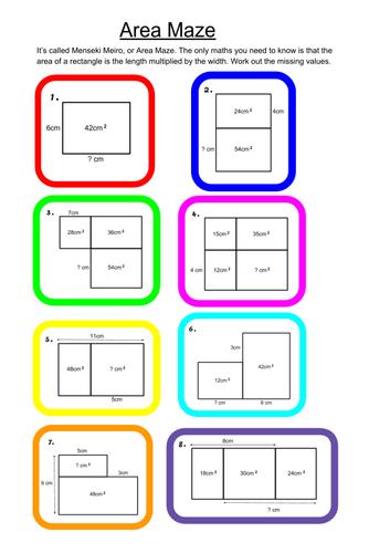 Menseki Meiro, or Area Maze problems.