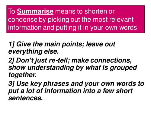 Improving writing: Learn a skill - self-check summary