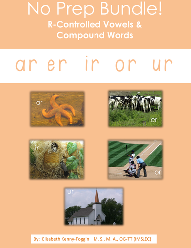 Know the Code: No Prep Bossy R Vowels & Compound Words