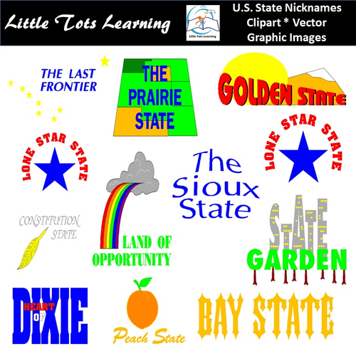 United States Clipart | United States Nicknames Clipart