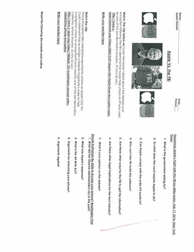 1st Amendment: Right to Privacy Violations? Apple Vs. FBI