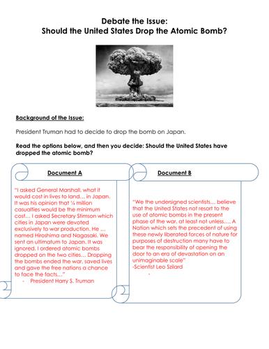 atomic bomb dbq