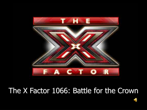 XFactor Game for contenders to the English throne in 1066