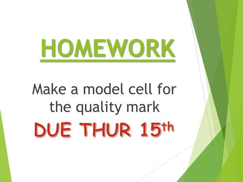 Model Cells Quality Mark Assessment (FULL RESOURCE PACK)