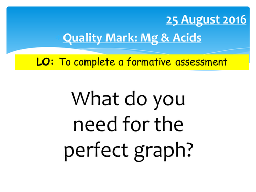 Reaction of Metal and Acid Quality Mark Assessment (FULL RESOURCE PACK)