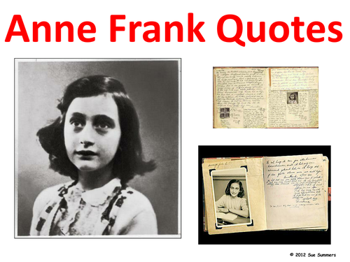 Anne Frank Quotes - Classroom Signs Powerpoint