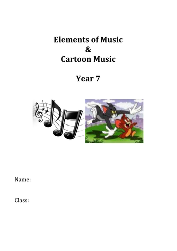 Elements of Music & Cartoon Music SOW & Resources