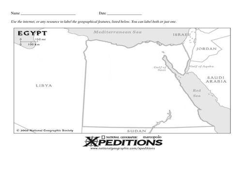 Ancient egypt scheme of work 4 lessons by 6avin teaching ancient egypt nile river valley geography map activity worksheet gumiabroncs Image collections