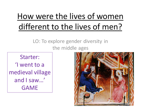 The Lives of Peasant Women in Medieval Times/The Middle Ages