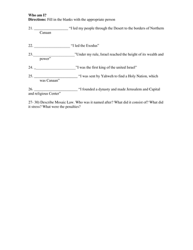 origins of judaism who am i quiz worksheet by linni0011 teaching resources tes. Black Bedroom Furniture Sets. Home Design Ideas