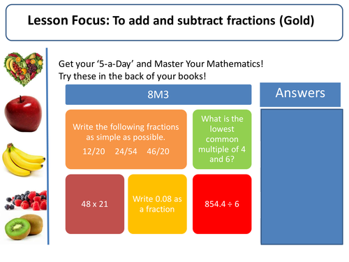 Add and Subtract Fractions