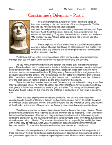 Rome: THE RISE OF CHRISTIANITY- Lesson Plan