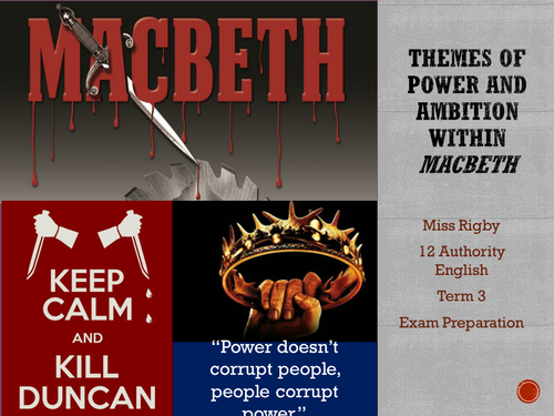 The Discourse of Power and Ambition in Macbeth