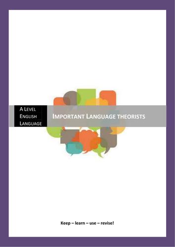 A Level English Language: Language Theorists Resource
