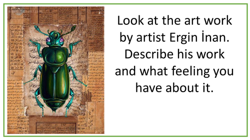 GCSE Artists Research.