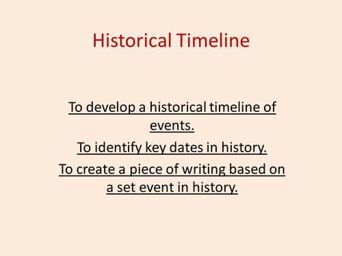 Timeline Activity 1800- Present Day