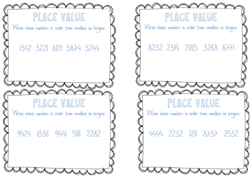 Common Worksheets » Place Value Ordering Worksheets - Preschool ...