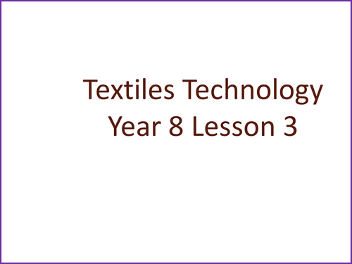 KS3 Textiles Technology Seven Deadly Sins Hats Lesson Three