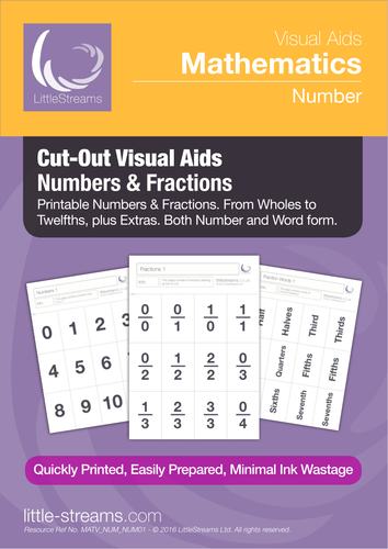 Cut-Out Visual Aids | Numbers & Fractions
