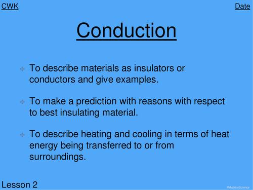 Conduction of heat Year 8 KS3 Lesson