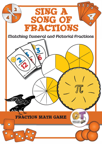 """Matching Equivalent Fractions Game - """"Sing a song of fractions"""""""