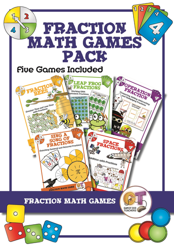 Fraction Math Game Pack