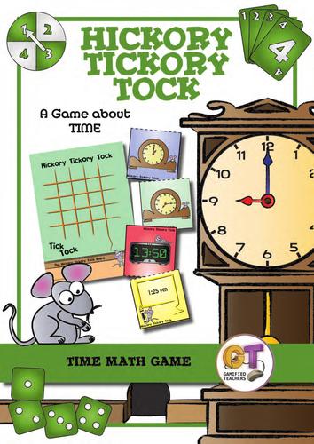 Hickory Tickory Tock - Math Time Game - Self Correcting, Analog and Digital Time (12 hour, 24 hour)
