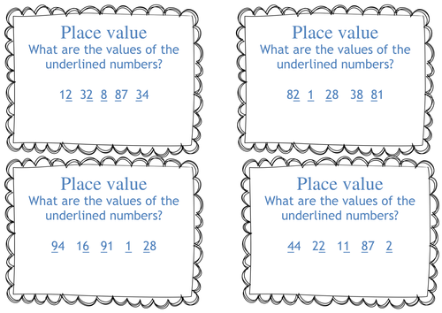 ks1 year 1 2 place value task cards what is the value of differentiated 2 digit. Black Bedroom Furniture Sets. Home Design Ideas