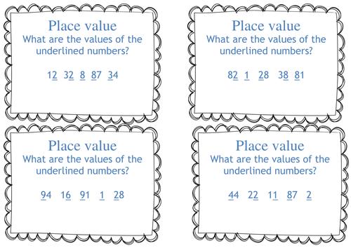 bundle ks1 year 1 2 place value task cards what is. Black Bedroom Furniture Sets. Home Design Ideas