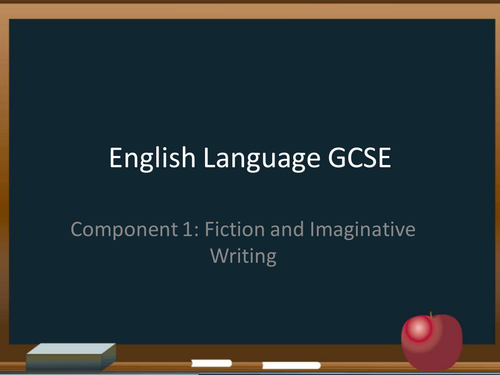 Edexcel GCSE English Language Paper 1: Fiction and Imaginative Writing SoW (6 weeks)