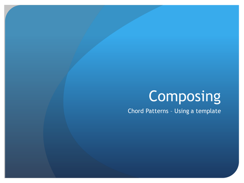 How to compose a chord pattern - Worksheet & PowerPoint