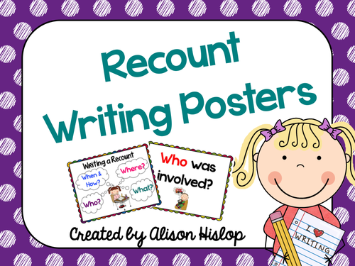 Writing Recount Posters