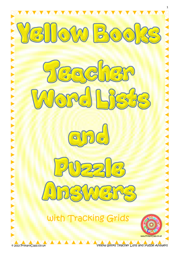 Spelling Journal - Yellow Books - Letters and Sounds - High Frequency Words - Teacher Book