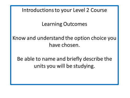 Introduction lesson to I-media Level 2 Course Cambridge Nationals OCR KS4