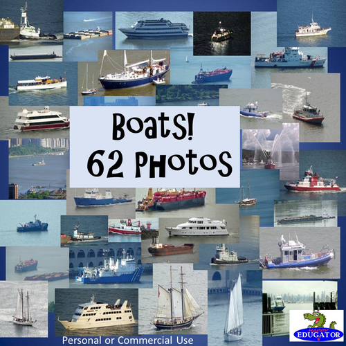 Photos Bundle - 62 Photographs of Boats - Personal or Commercial Use